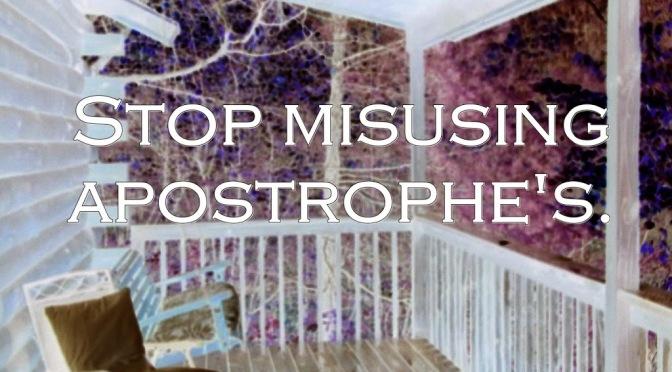 11102014 Apostrophe's  (Humorous)