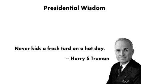 harry truman dog turd