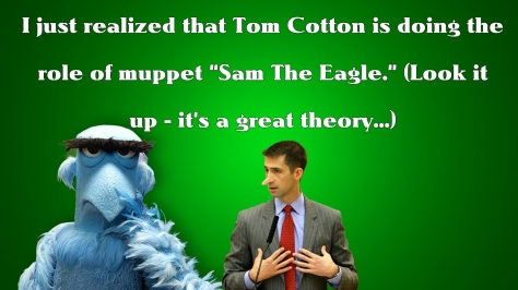 tom cotton sam the eagle