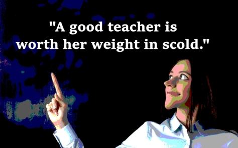 cv teacher scold