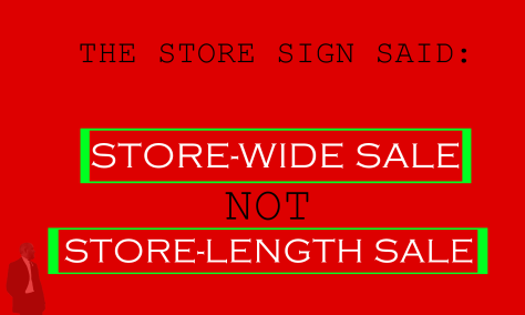 STORE SIGN SALE