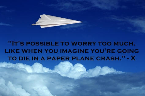 worry too much paper plane crash