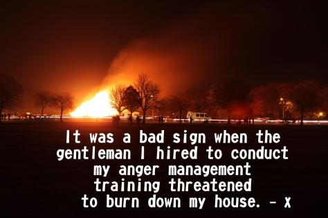 anger burned