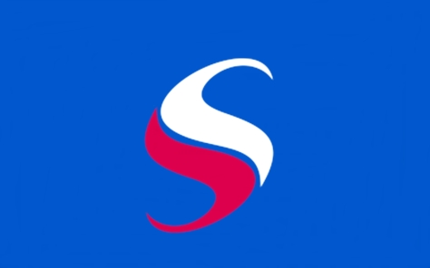 red-white-double-s-blue-background