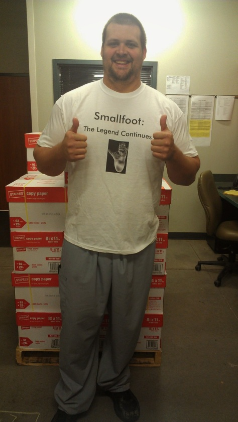 joe smallfoot tshirt