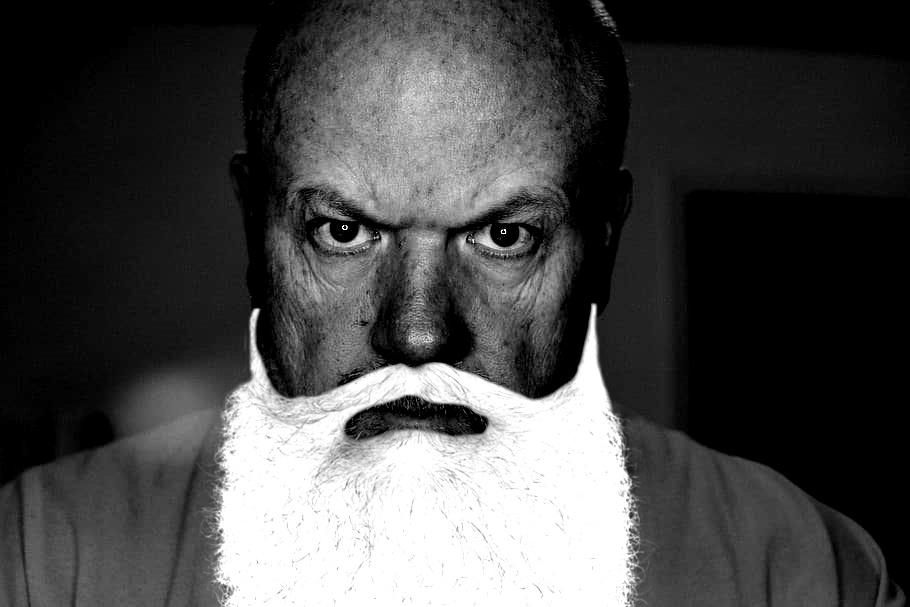 black-white-gray-man