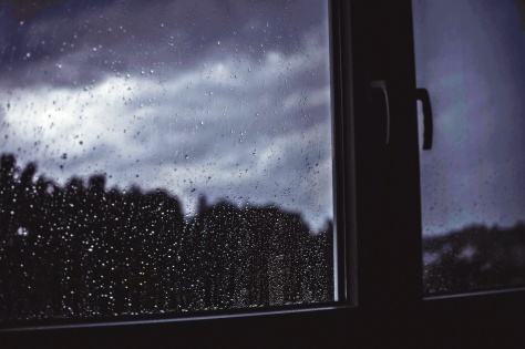 storm, outside, window